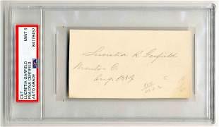 Lucretia Garfield Signature PSA Encapsulated Graded