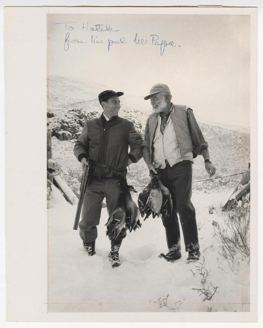 Ernest Hemingway Dedicated and Signed Iconic Photo, to