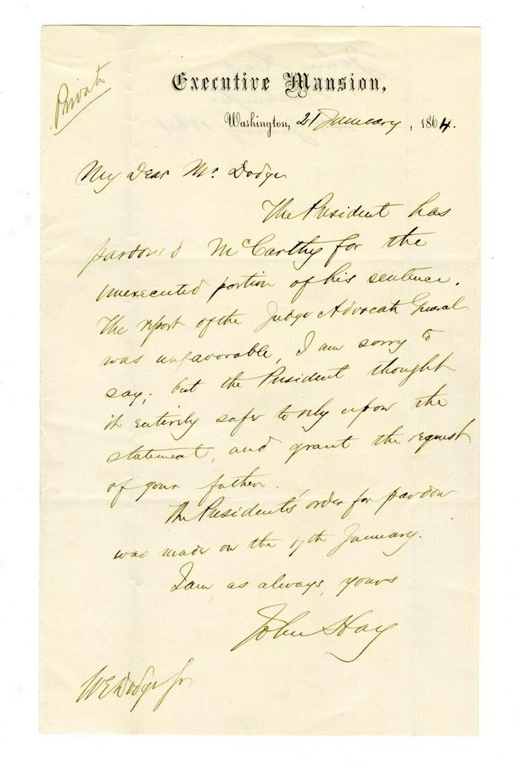 Lincoln Grants a Father's Request and Pardons His Son