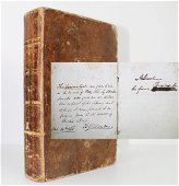 A. Lincoln Signed Book Formative to his Views on