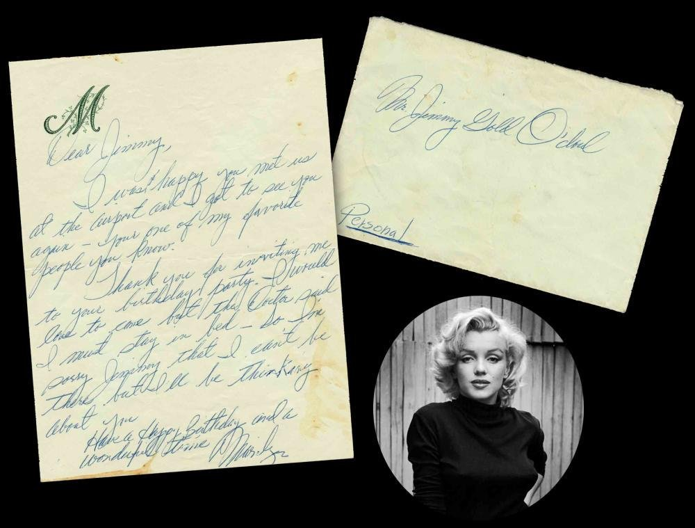 Marilyn Monroe ALS to Lefty O