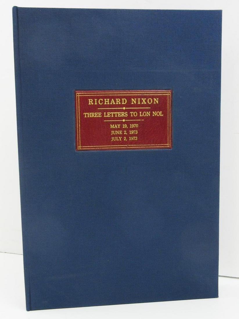 R. Nixon to Khmer President Lon Nol. 3 Letters, Most