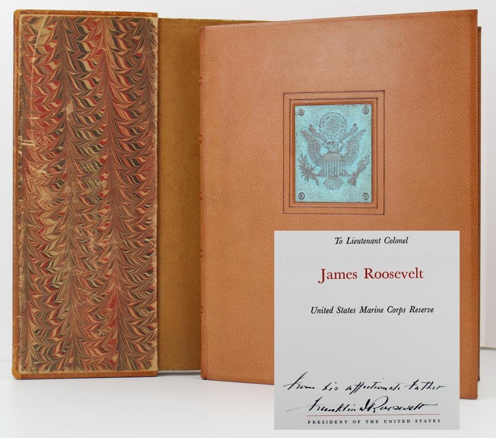 "FDR Signed Book to His Son ""From His Affectionate"