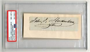John James Audubon Signature, PSA Slabbed & Graded