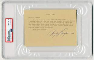 Ingrid Bergman TLS Re: Hitchcock, PSA Slabbed & Graded