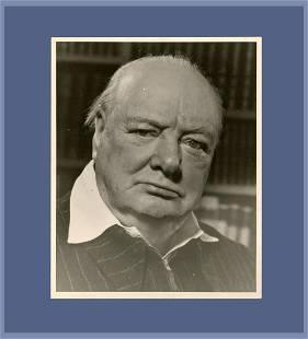 Winston Churchill test print photograph