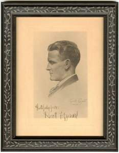 F. Scott Fitzgerald Signed Gordon Bryant Portrait