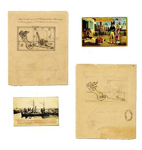 Engineer and Steamboat Inventor Robert Fulton Designs