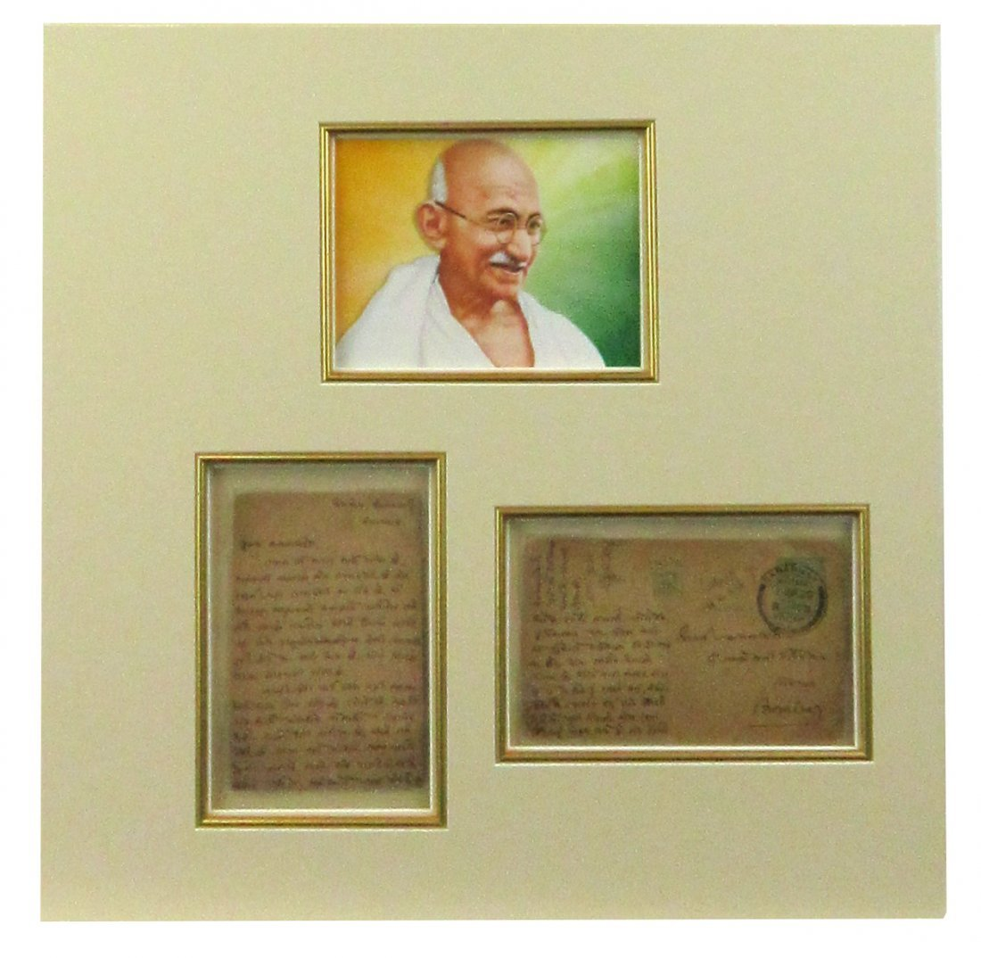 "M. Gandhi Letter: ""the life span of human beings is"