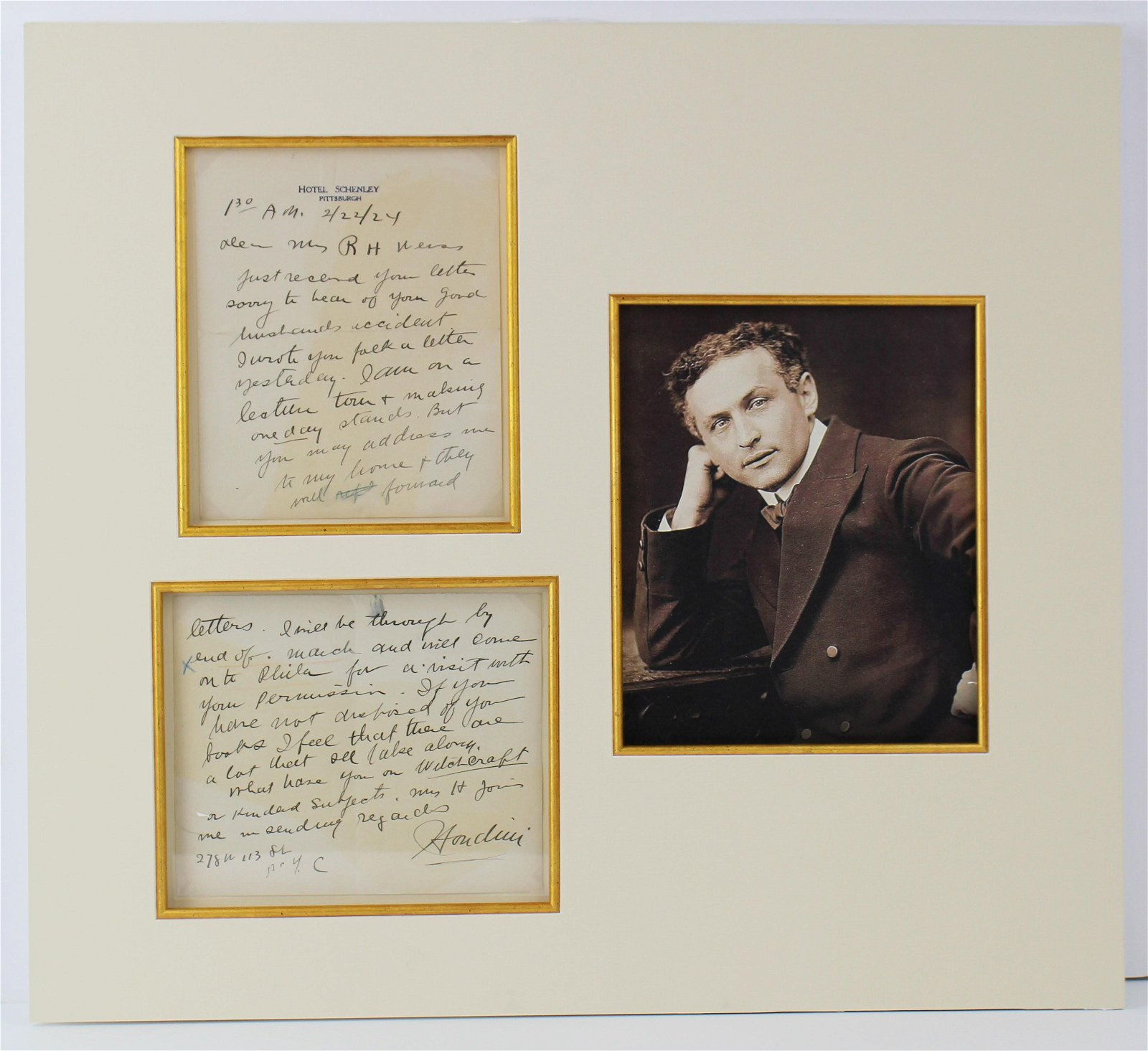 Harry Houdini Rare ALS Books on Witchcraft and Kindred