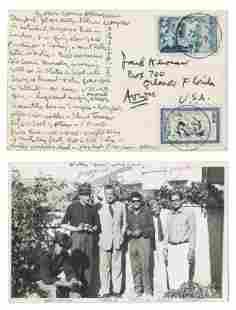 Allen Ginsberg's Postcard to Jack Kerouac, Estate Cert