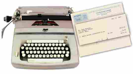 "Jack Kerouac's Typewriter, Used to Write ""Vanity ..."""