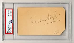 Vivien Leigh Vintage Signature PSA Slabbed Graded
