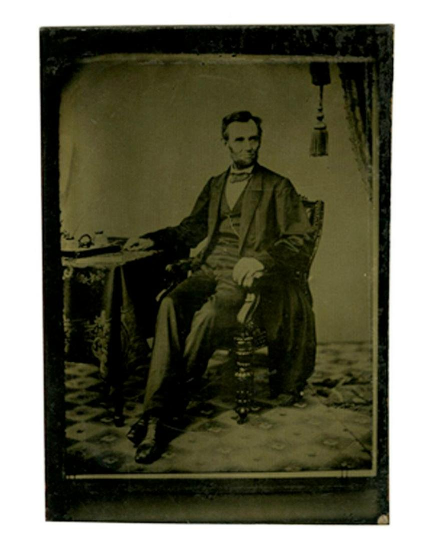 Lincoln tintype photo from an Famous portrait sitting