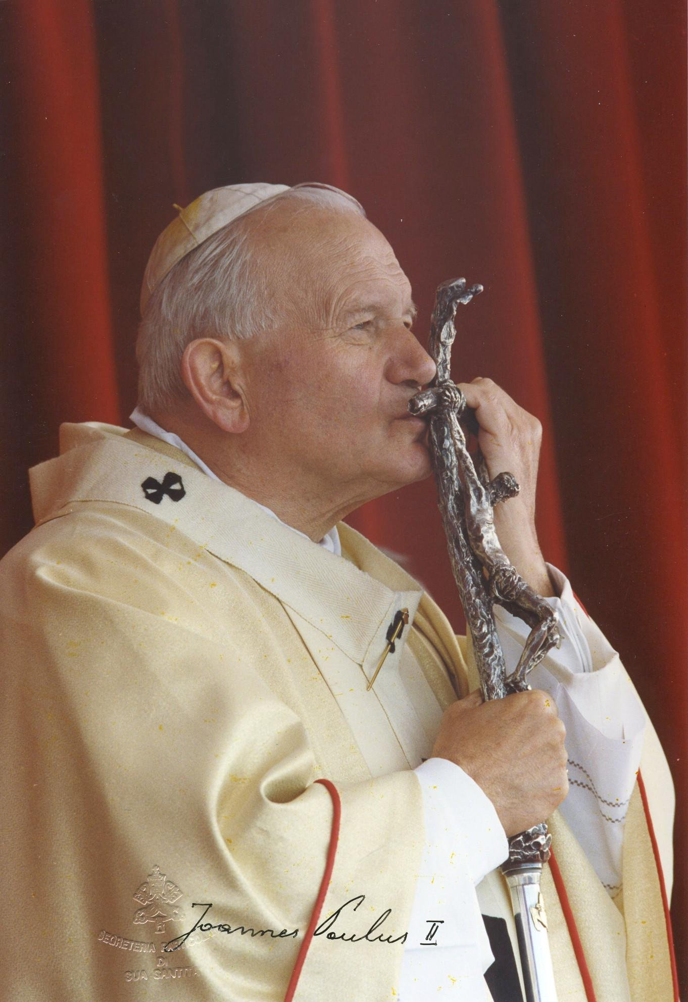 Pope John Paul II Fantastic Signed Photo with great