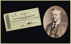 T. Roosevelt's Father Endorses a Bank Document When the