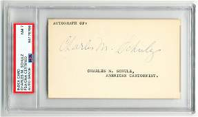 Charles Schulz Signature PSA Slabbed  Graded NM 7