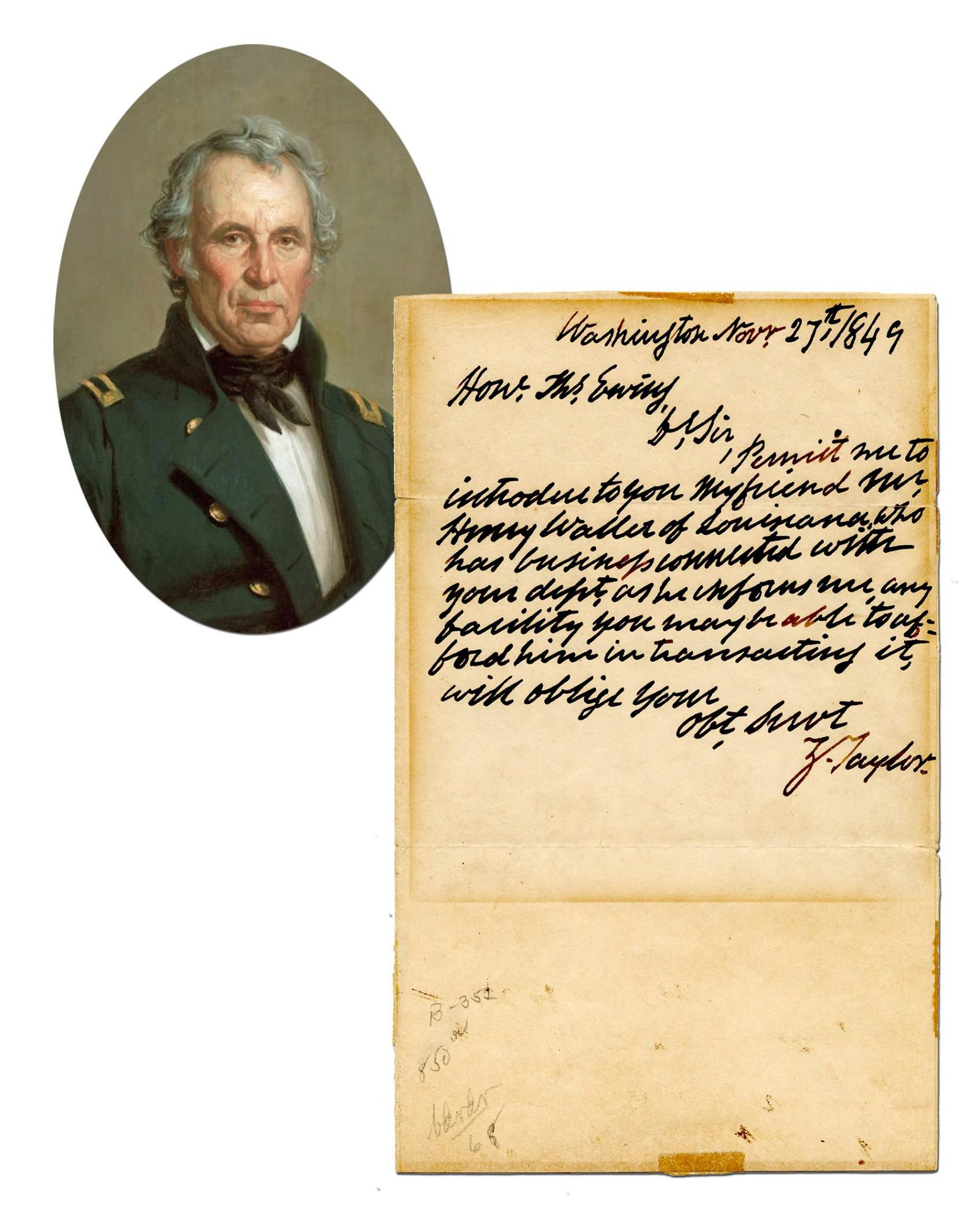 Zachary Taylor ALS as President - Excessively Rare for