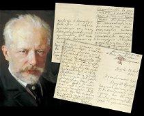 Superb Tchaikovsky ALS to Napravnik 4 pages on Mazeppa!