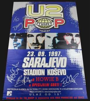 """""""U2"""" Signed Poster--Rare!"""