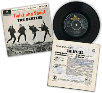 """The Beatles"", All 4 Members, Signed ""Twist & Shout"""