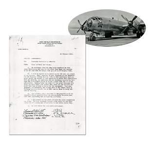 Bockscar Weaponeer Ashworth Autographs Groves Memo