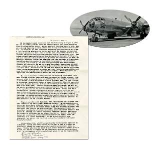 Bockscar Bombardier Beahan Autographs First Page of