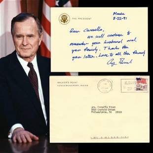 George H.W. Bush Rare ALS as President