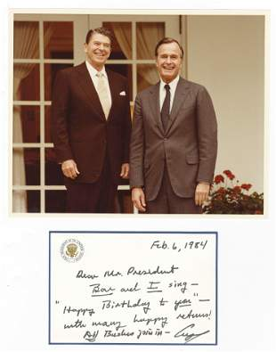 George Bush As VP to Ronald Reagan As Prez on His