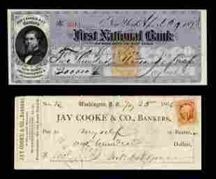 Jay Cooke Signed 200000 Check 5 Months before
