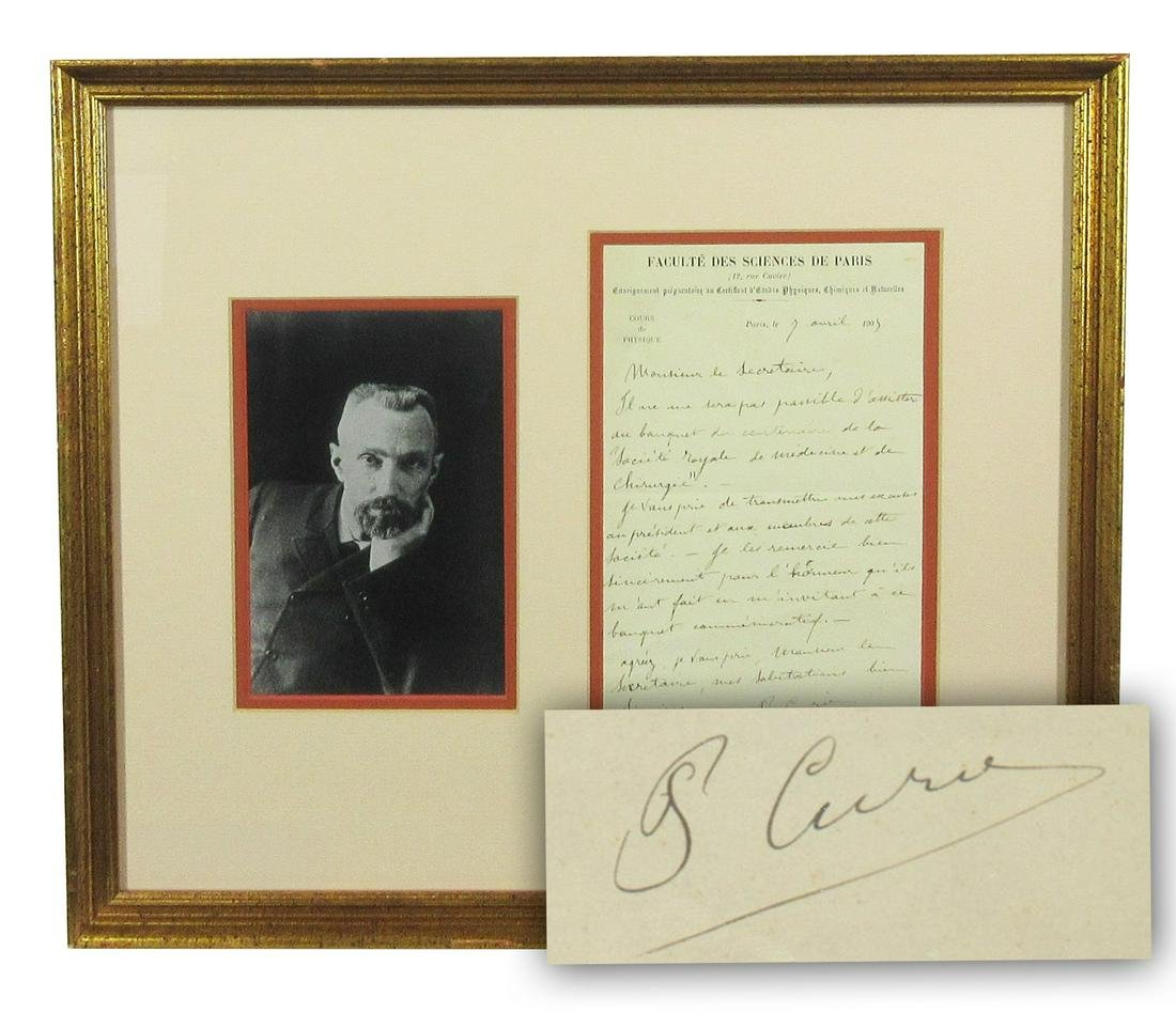 "Pierre Curie Rare ALS Re: ""Royal Society of Surgery and"