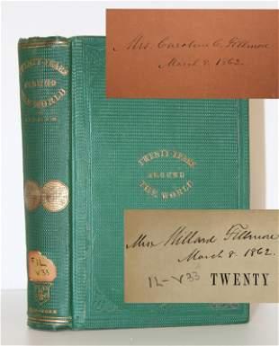 Millard Fillmore Twice Signed Book Twenty Years Around