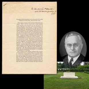 Felix Frankfurters Signed Presentation Copy of FDR