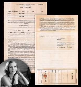 Greta Garbo Unusual Signed Early Document