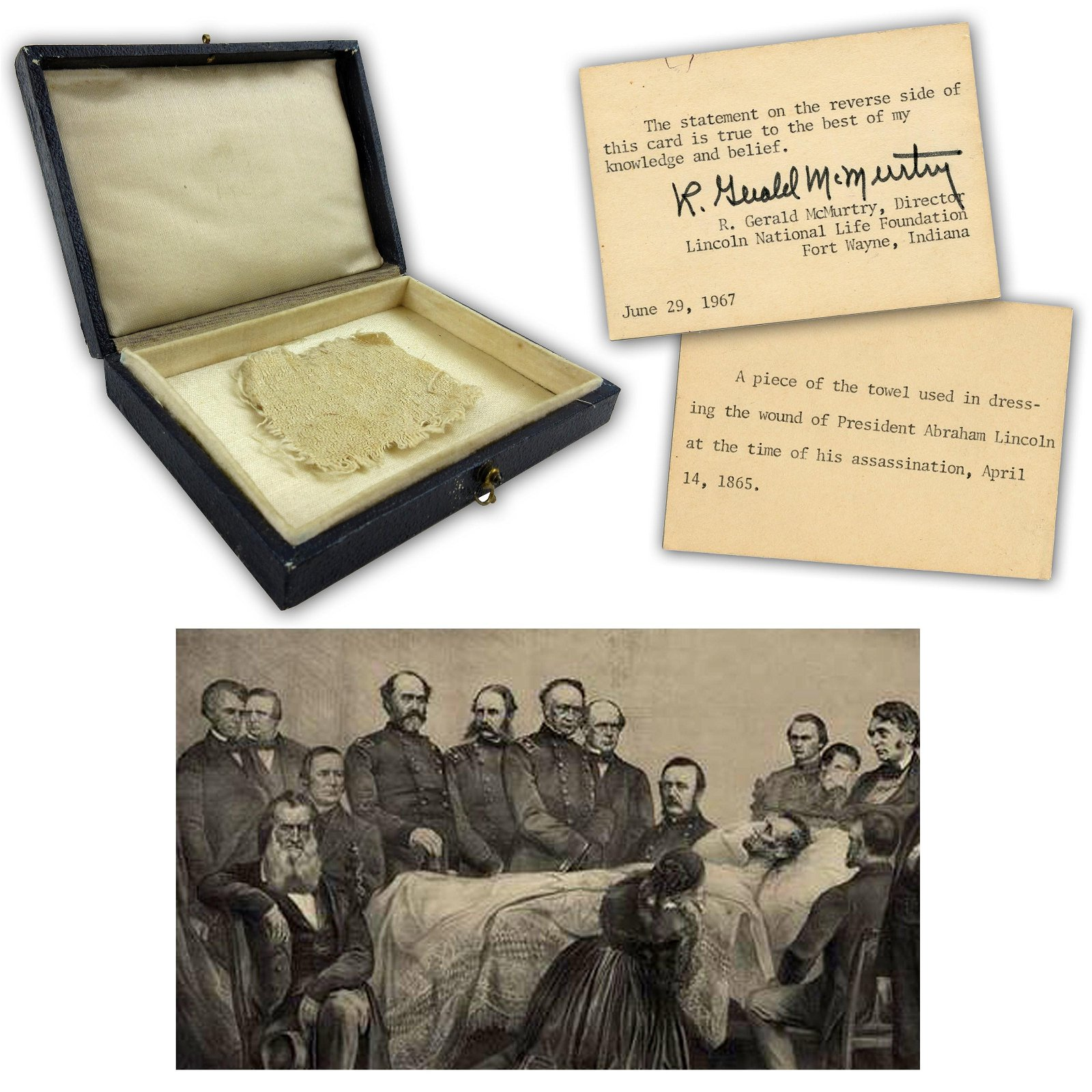 A. Lincoln Bloody Towel Fragment from Lincoln