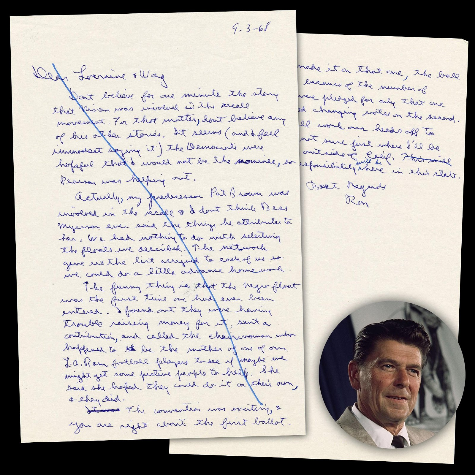 Reagan Bashes Nixon in '68 Primaries & Comments on