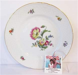 Spectacular Ronald Reagan fine designer plate by BG