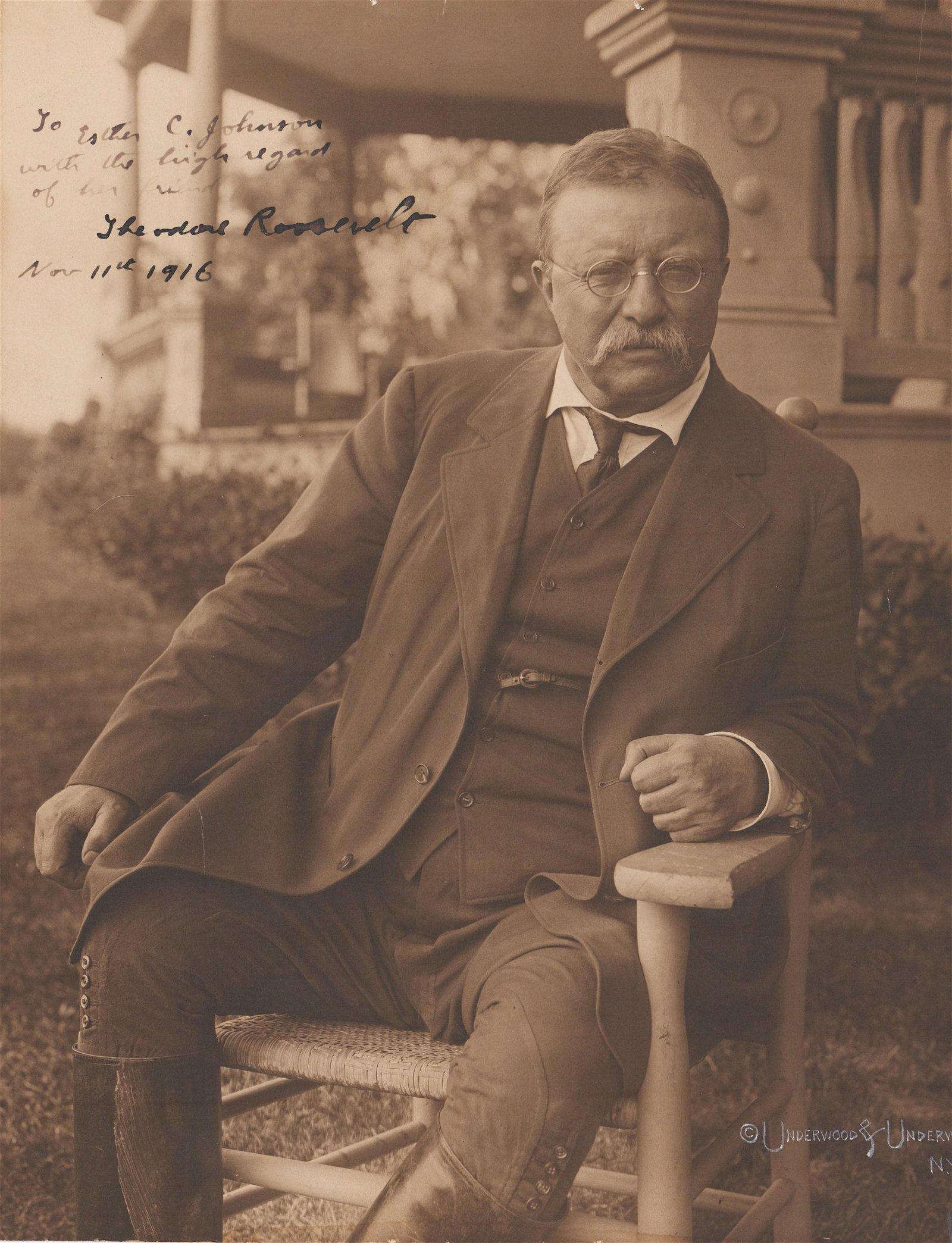 T. Roosevelt Massive Signed Photo--Superb!