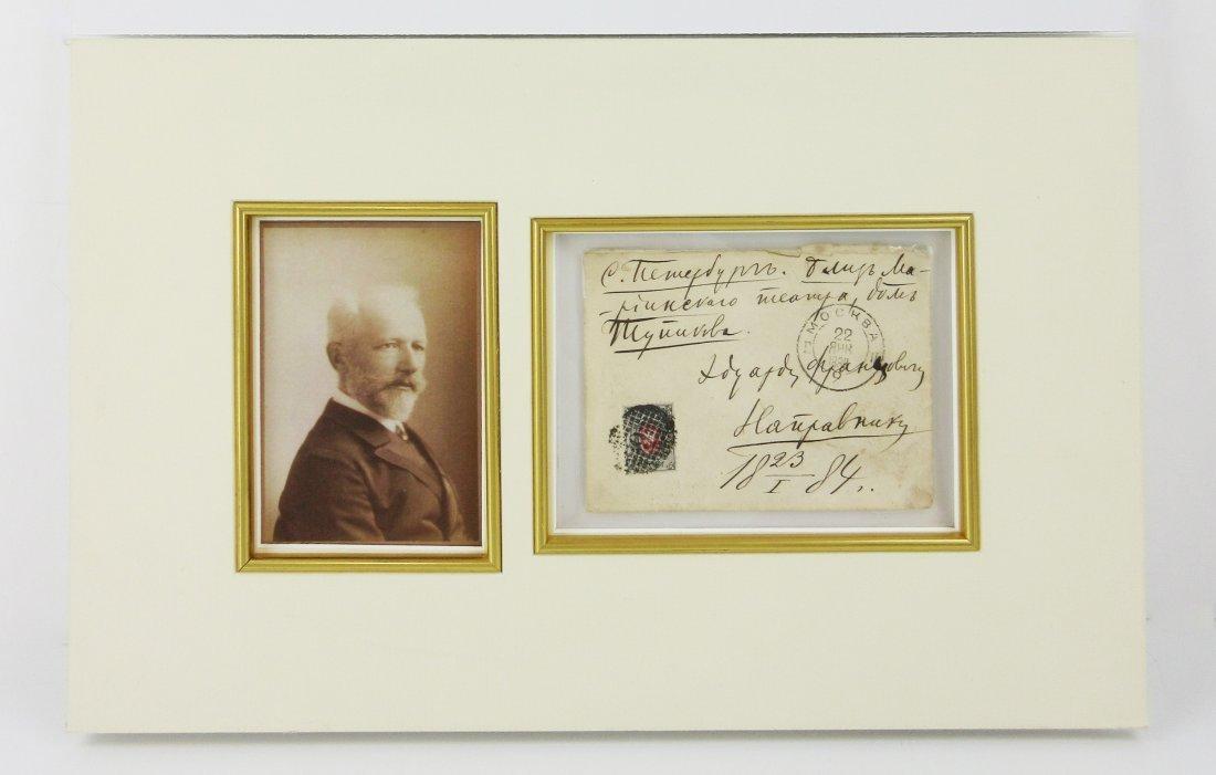 Tchaikovsky Handwritten Envelope--Superb Display!