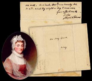 """Abigail Adams Loving ANS to Older Sister: """"by Night or"""