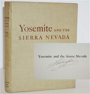 "Ansel Adams Signed ""Yosemite and the Sierra Nevada"""