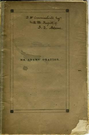 Adams Signed Speech on Slavery Issue of Nullification,