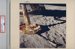 APOLLO 11 LUNAR MODULE ON MOON Original NASA Blue