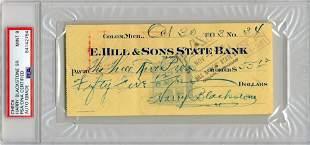 "Harry Blackstone, ""The Great Blackstone"", Signed Check"