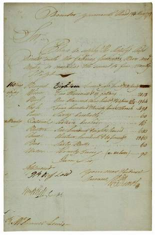 William Bligh DS From 1798 for His Ship, the HMS