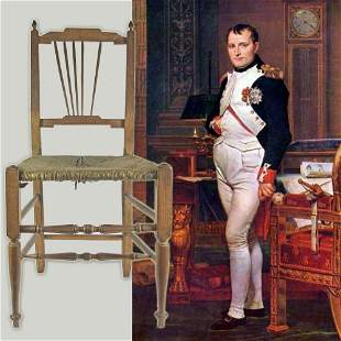 Chair Purportedly Used by Napoleon En Route to Waterloo