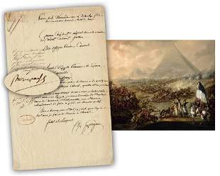 Napoleon DS Approving Cavalry Appointment of Wounded &