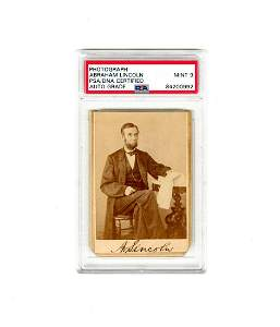 A Superb Abraham Lincoln Signed Photo Authenticated,