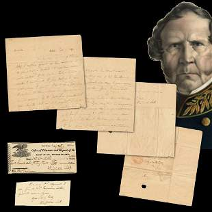 Winfield Scott Small Archive Featuring 3 Full