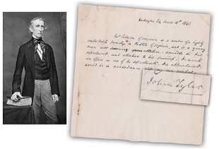 John Tyler Rare ALS as VP Only 2 or 3 Others Have Sold